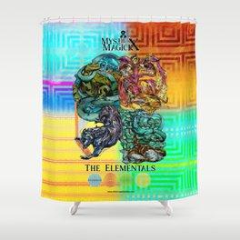 Mysticx & Magick: The Japanese Elemental Gods - Art Cover Shower Curtain