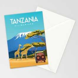 Tanzania travel poster Stationery Cards