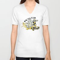 poker V-neck T-shirts featuring Poker face by Tshirt-Factory