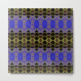 Ultra Lapis Blue Resonant Harmonic Boujee Boho Rococo Geometric Metal Print