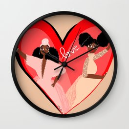 Connected by love Wall Clock