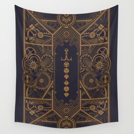 Steampunk Polyhedral Dice Sword Tabletop RPG Gaming Wall Tapestry