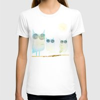 owls T-shirts featuring Owls by Brontosaurus