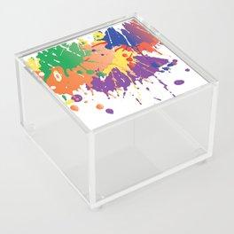 Colourful Paint splash Acrylic Box