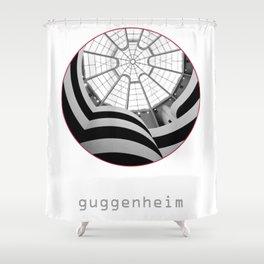 Guggenheim interior Shower Curtain