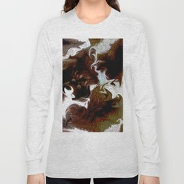 Neo animalic cow milky print Long Sleeve T-shirt