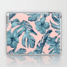 Island Life Teal on Light Pink Laptop & iPad Skin