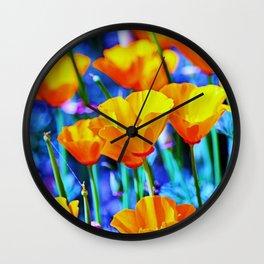 The Poppy Field. © J. Montague. Wall Clock