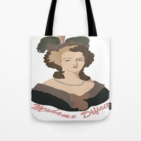 marie antoinette Tote Bags featuring Antoinette by HistoryMistress