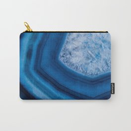 Blue Agate Geode Carry-All Pouch