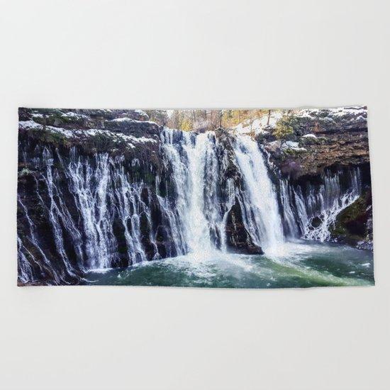 Burney Falls Beach Towel