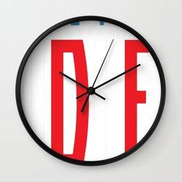 AMERICAN IDLE T-SHIRT Wall Clock
