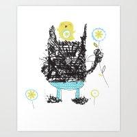 Black cats dig velour! Art Print