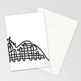racer express - line rollercoaster Stationery Cards