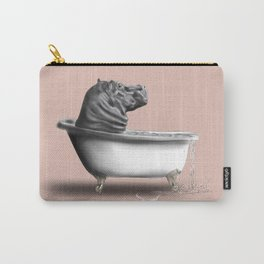 Hippo in Bath Carry-All Pouch