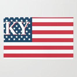 Kentucky American Flag Rug