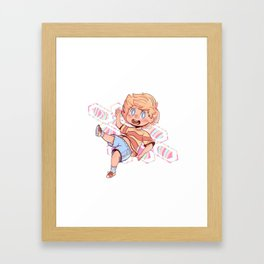 Lucas Sticker Framed Art Print