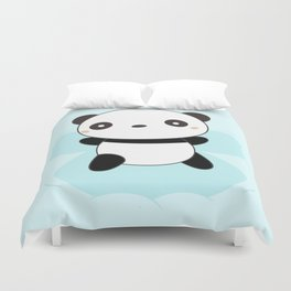 Kawaii Panda Snow Angel Duvet Cover
