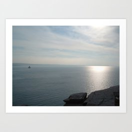 A KING'S VIEW TINTAGEL CASTLE CORNWALL Art Print