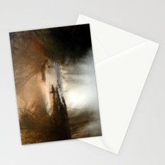 Foggy Alum Creek on a chilly fall morning Stationery Cards
