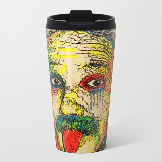 The genius of Einstein Metal Travel Mug