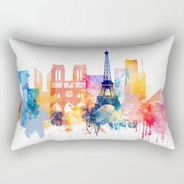 Paris Watercolor skyline Rectangular Pillow