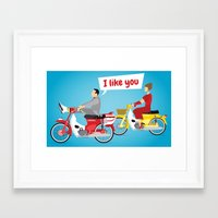 pee wee Framed Art Prints featuring Pee-Wee and Dottie by SoSam