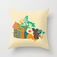 canada Throw Pillows featuring Canada by Mohit Gupta