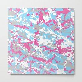 LGBT Light Pastel Urban Camouflage Metal Print