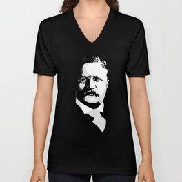 Teddy Roosevelt Unisex V-Neck