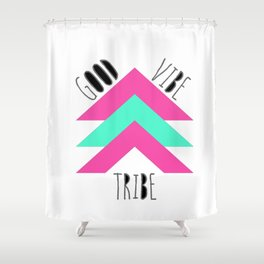 Good Vibe Tribe Shower Curtain