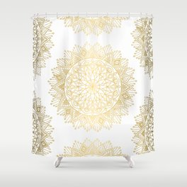 Gold Mandala Shower Curtain