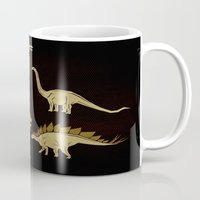 dinosaurs Mugs featuring Dinosaurs by chobopop