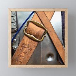 Always Fasten Seat Belts. Medieval Wisdom Framed Mini Art Print