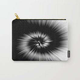TIE DYE #1 (Black & White) Carry-All Pouch