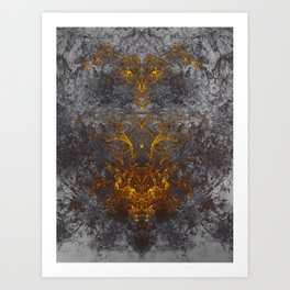 Obscured by Darkness Art Print