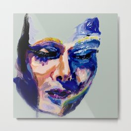 Face in Acrylic Metal Print
