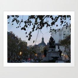 Evening, Recoleta, Buenos Aires Art Print