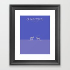 Crazy old Mule / Mule of Troy Framed Art Print