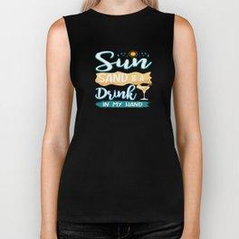 Funny Summer Sun Beach Holiday Vacation Drink Gift Biker Tank