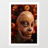 Pumpkin Harvest Muertita Detail Art Print