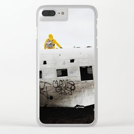 Icelandic Plane Wreck (Space Walk Series no.3) Clear iPhone Case