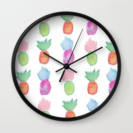 Pineapples for Days Wall Clock