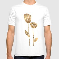 PAPERCUT FLOWER 5 White Mens Fitted Tee MEDIUM