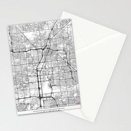 Las Vegas Map White Stationery Cards