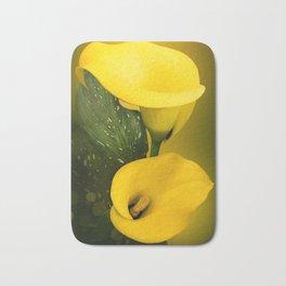 Calla Lily Bright Yellow Lives Bokeh Bath Mat