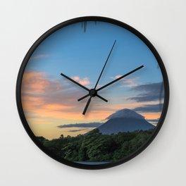 Ometepe in a Nutshell Wall Clock