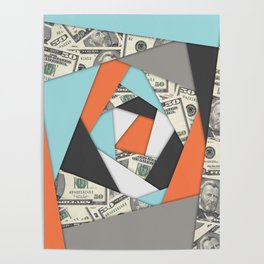 Layered Money Poster