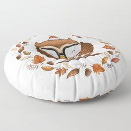 Fall Ready Owl- Illustration Floor Pillow