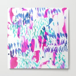 Lanai Pink Metal Print